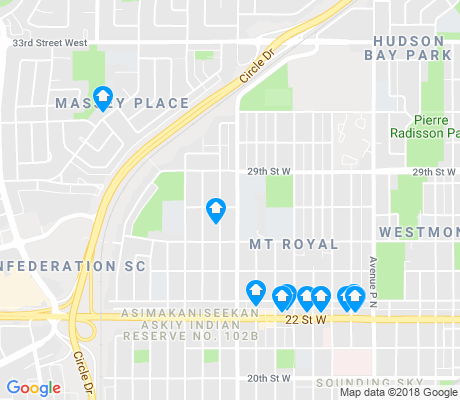 map of Mount Royal apartments for rent