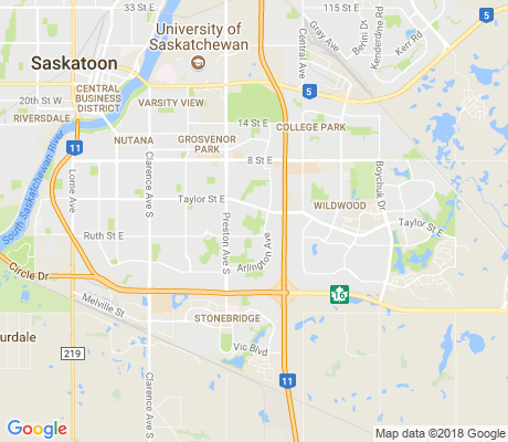 map of Nutana Suburban Centre apartments for rent