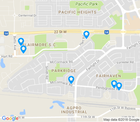 map of Parkridge apartments for rent