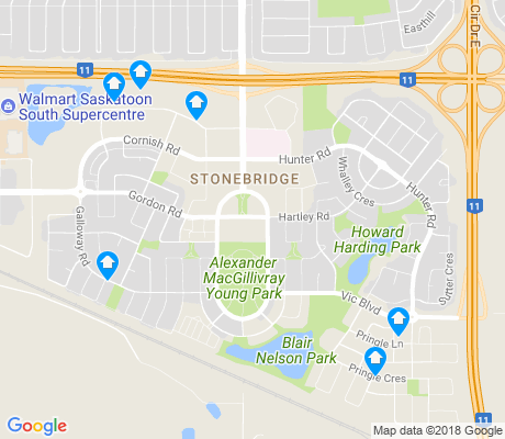 map of Stonebridge apartments for rent