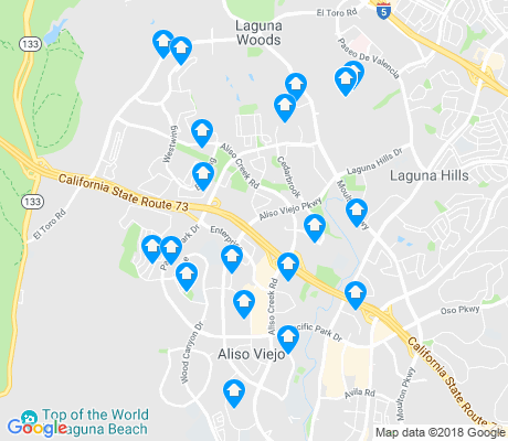 map of Aliso Viejo apartments for rent
