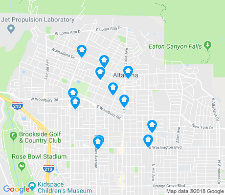 map of Altadena apartments for rent