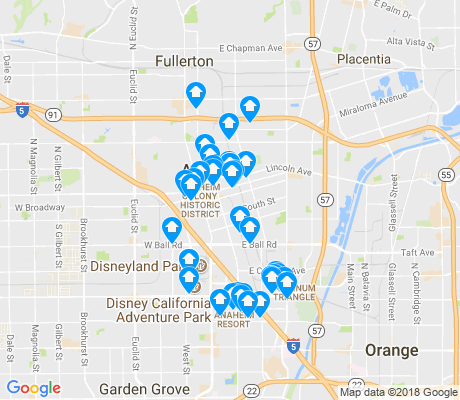 map of 92805 apartments for rent