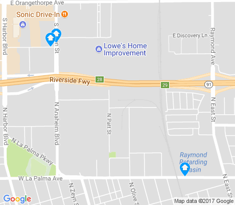 map of North Central Industrial apartments for rent