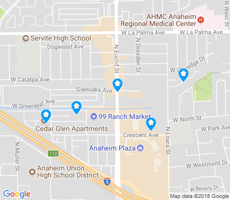 map of North Euclid apartments for rent