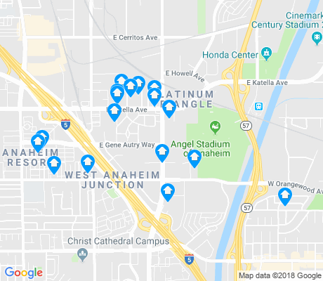 map of Platinum Triangle apartments for rent