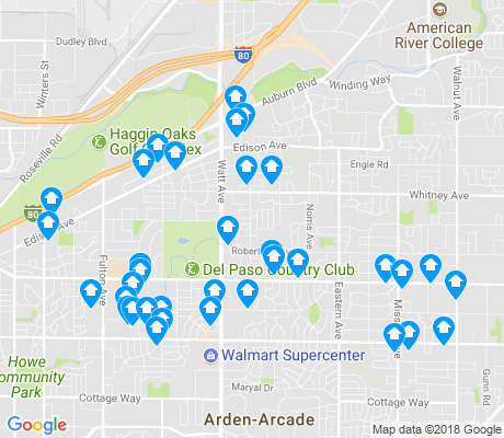 map of 95821 apartments for rent