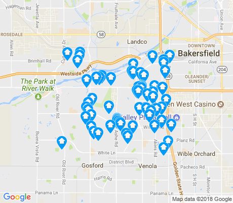 map of 93309 apartments for rent