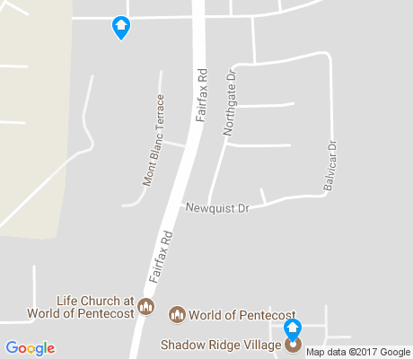 map of Eastridge Estates apartments for rent