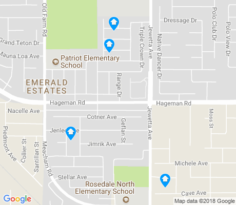 map of Emerald Estates apartments for rent