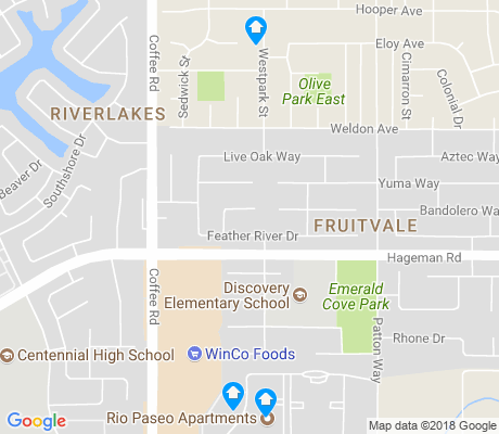 map of Fruitvale apartments for rent