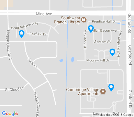map of Haggin Oaks apartments for rent