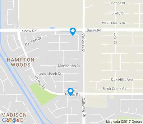 map of Hampton Woods apartments for rent