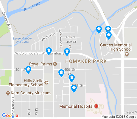 map of Homaker Park apartments for rent
