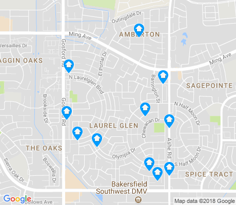 map of Laurelglen apartments for rent