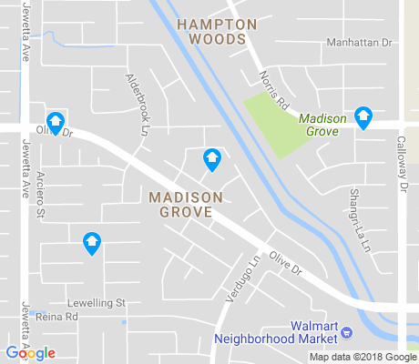 map of Madison Grove apartments for rent