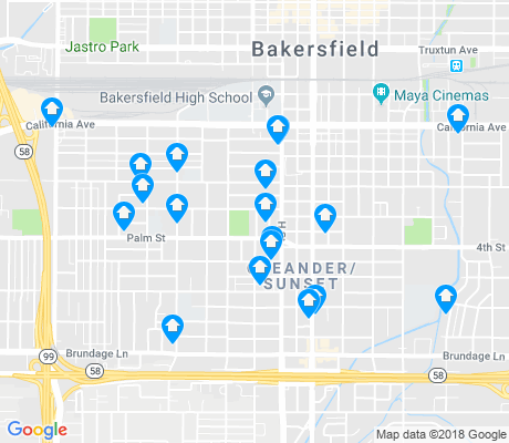 map of Oleander-Sunset apartments for rent