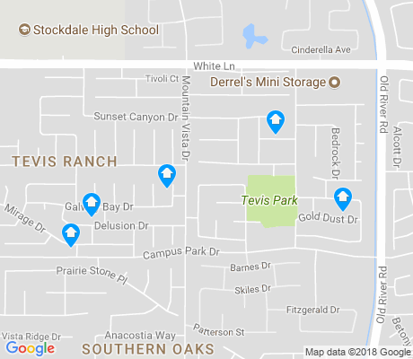 map of Tevis Ranch apartments for rent