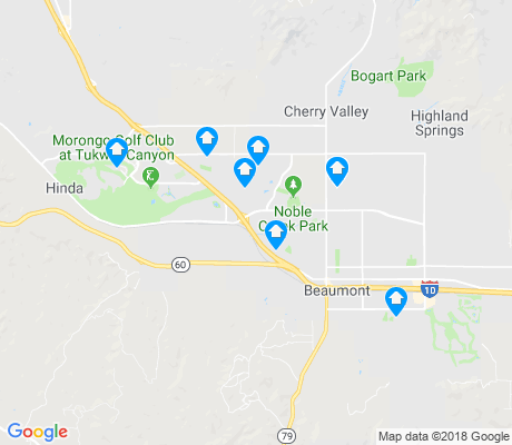 map of Beaumont apartments for rent