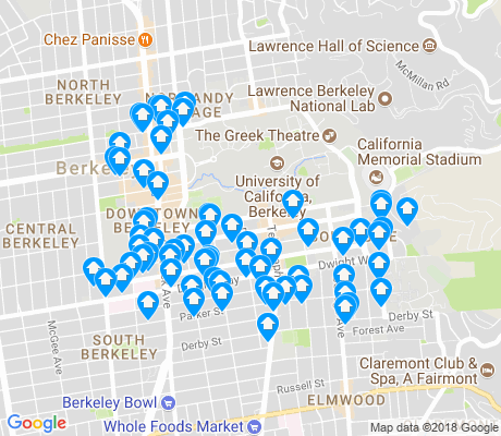map of 94704 apartments for rent