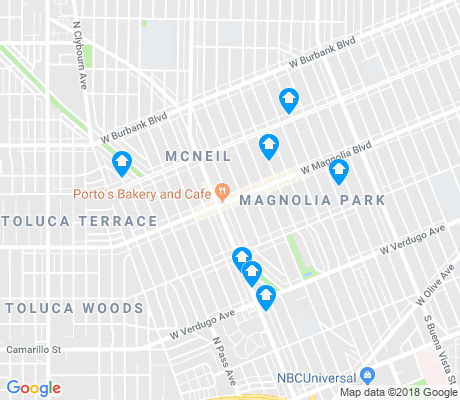 map of Magnolia Park apartments for rent