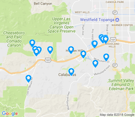 map of Calabasas apartments for rent