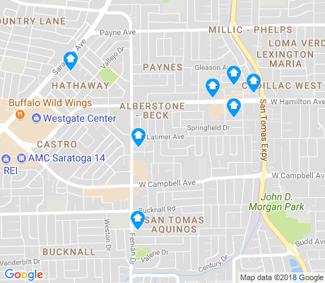 map of West Campbell apartments for rent