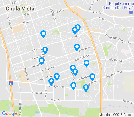 map of Castle Park apartments for rent