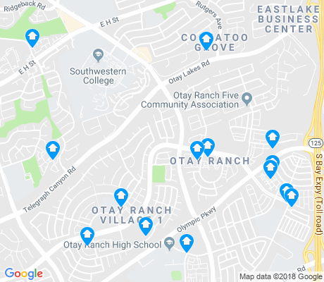 map of Otay Ranch Village apartments for rent