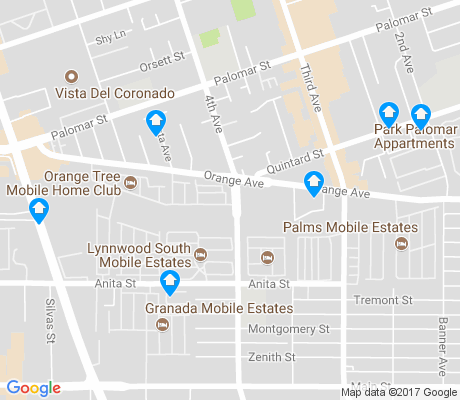 map of Otay Town apartments for rent