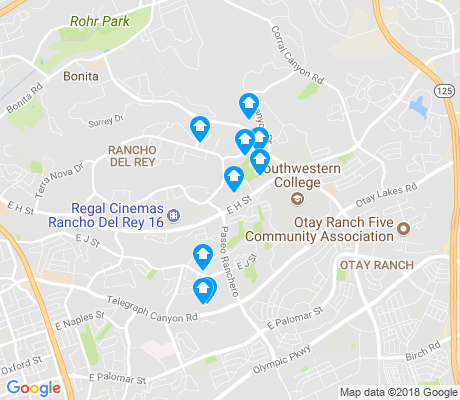 map of Rancho - Del Rey apartments for rent