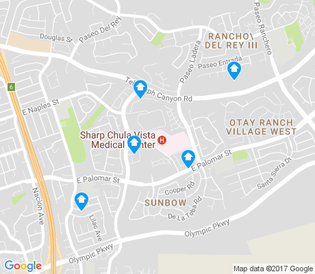 map of Sunbowl apartments for rent