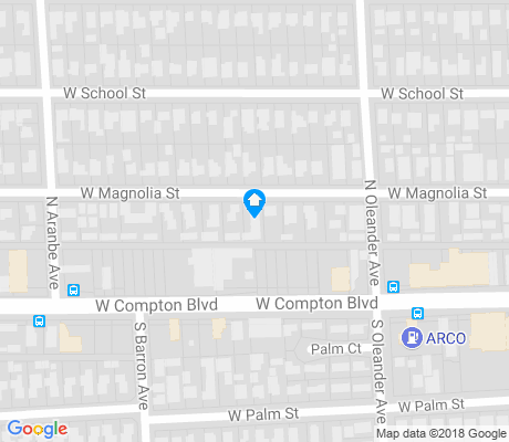 map of Compton apartments for rent