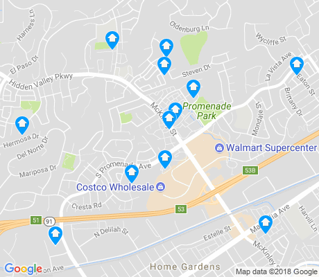 map of Corona Hills apartments for rent