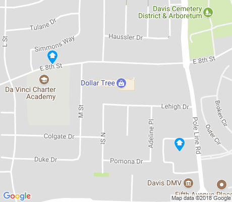 map of Davis Manor apartments for rent