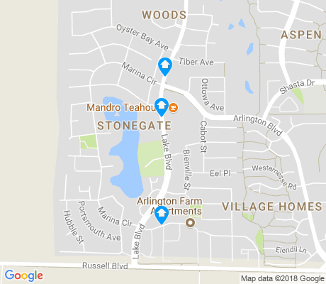 map of Stonegate apartments for rent