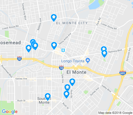 map of El Monte apartments for rent