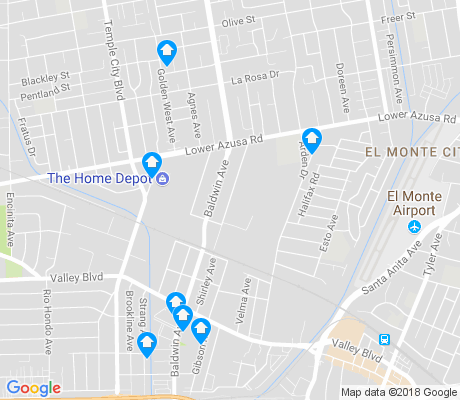 map of Northwest El Monte apartments for rent