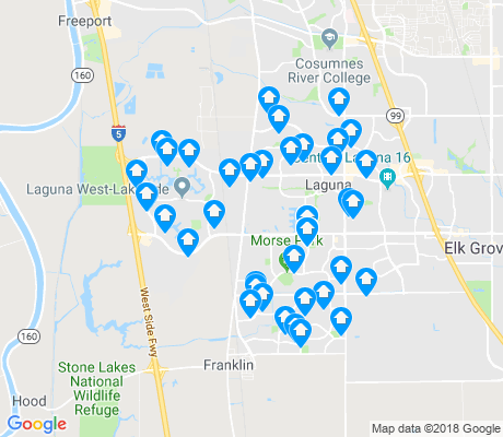 map of Elk Grove apartments for rent