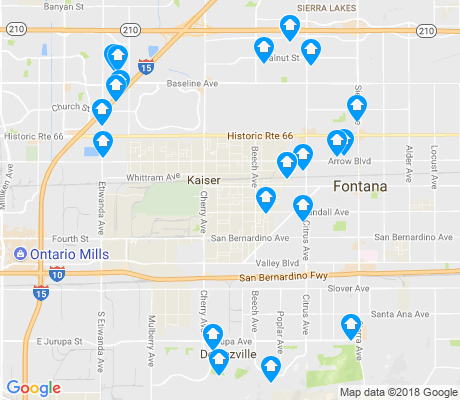 map of Fontana apartments for rent