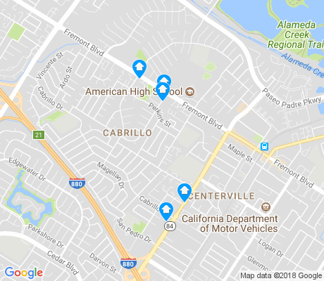 map of Cabrillo apartments for rent