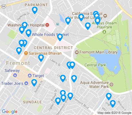 map of Central-Downtown apartments for rent