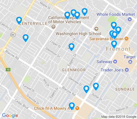map of Glenmoor apartments for rent