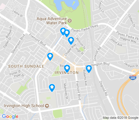 map of Irvington apartments for rent