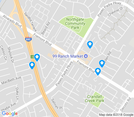map of Northgate apartments for rent