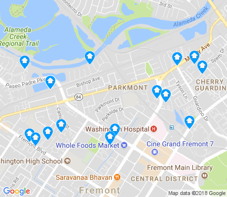 map of Parkmont apartments for rent