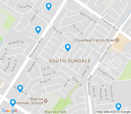 map of South Sundale apartments for rent
