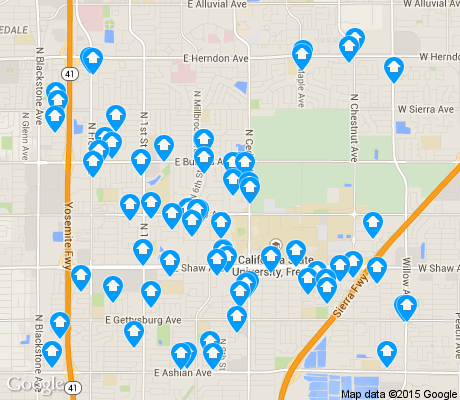 map of Hoover apartments for rent