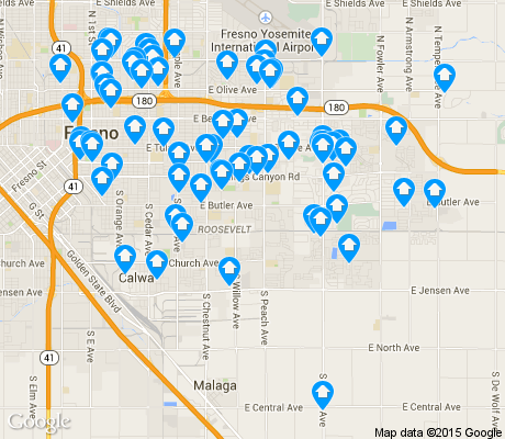 map of Roosevelt apartments for rent