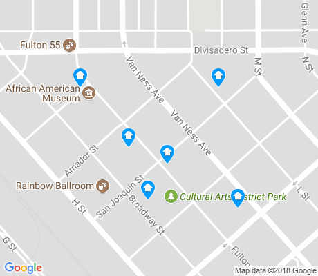 map of The Cultural Arts District apartments for rent